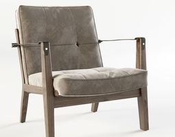 3D model NERI and HU - 781 CAPO LOUNGE CHAIR
