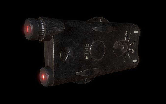 weapon laser sight for games 3d model obj mtl fbx blend 1