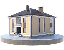 Residential house BP-14 3D PBR