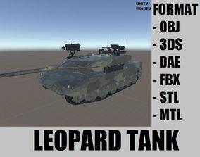Leopard Tank 3D asset