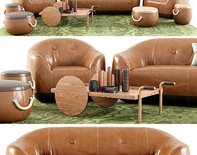 Natuzzi Italia Furrow Set 3D model