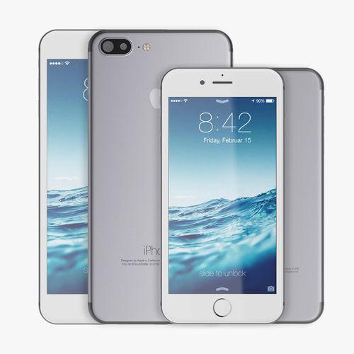 apple iphone 7 vs 7plus 3d model max obj mtl fbx 1