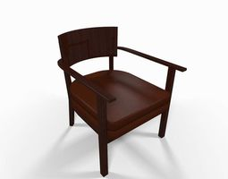 Leather armchair contemporary 3D