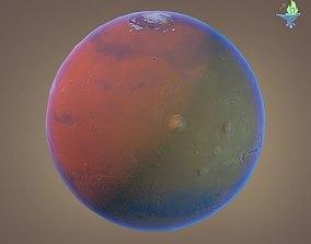 3D model Low poly Martian Globe