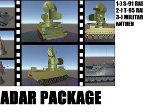 Anti-Aircraft Radar Package 3D asset