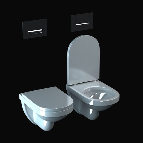 duravit happy d toilet 3d model max obj 3ds fbx mtl 3
