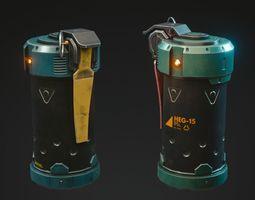 3D asset Grenade Game-Ready