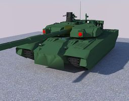 T-84 Tank 3D model realtime