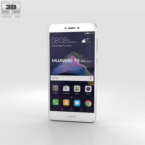 huawei p8 lite 2017 white 3d model max obj mtl 3ds fbx c4d lwo lw lws 1