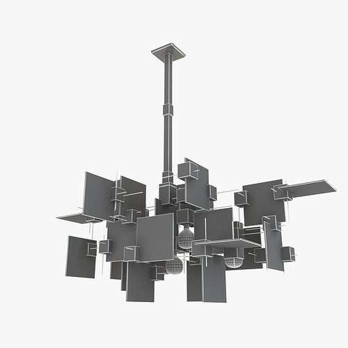 3D model Gaetano Sciolari Chandelier