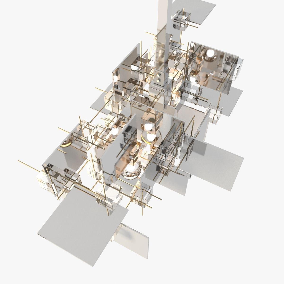 Gaetano Sciolari Chandelier 3D Model .max .obj .3ds .fbx ...