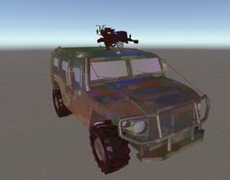3D model Tiger Military Jeep