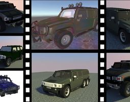 Military Jeep Package 3D model