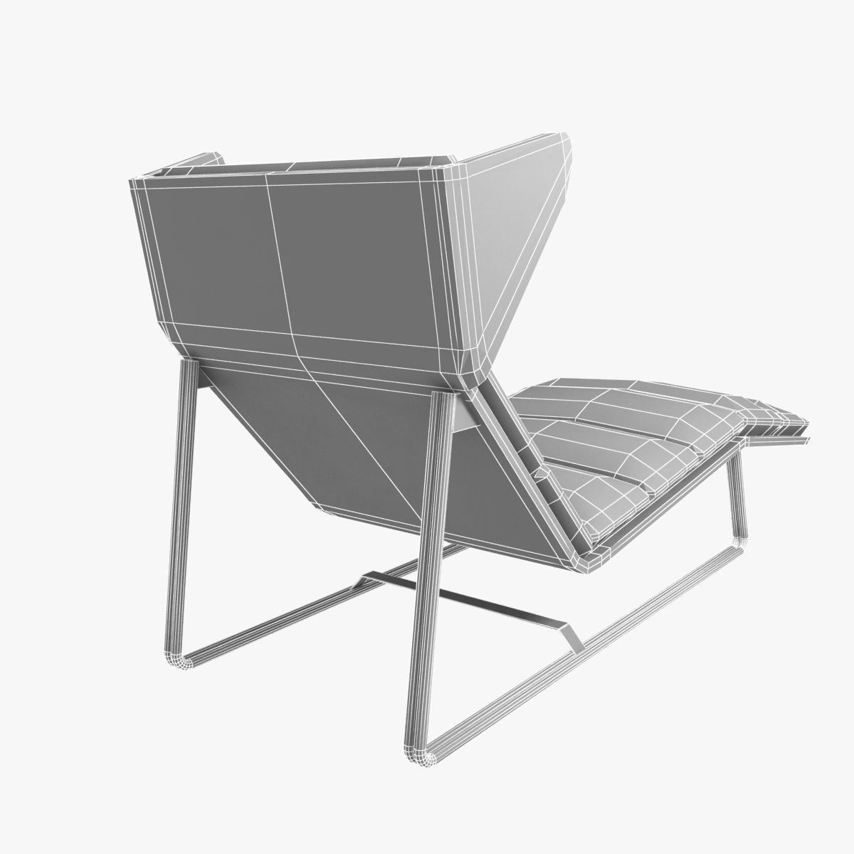 Esedra romea modern chaise lounge 3d model max obj 3ds fbx for Chaise modele