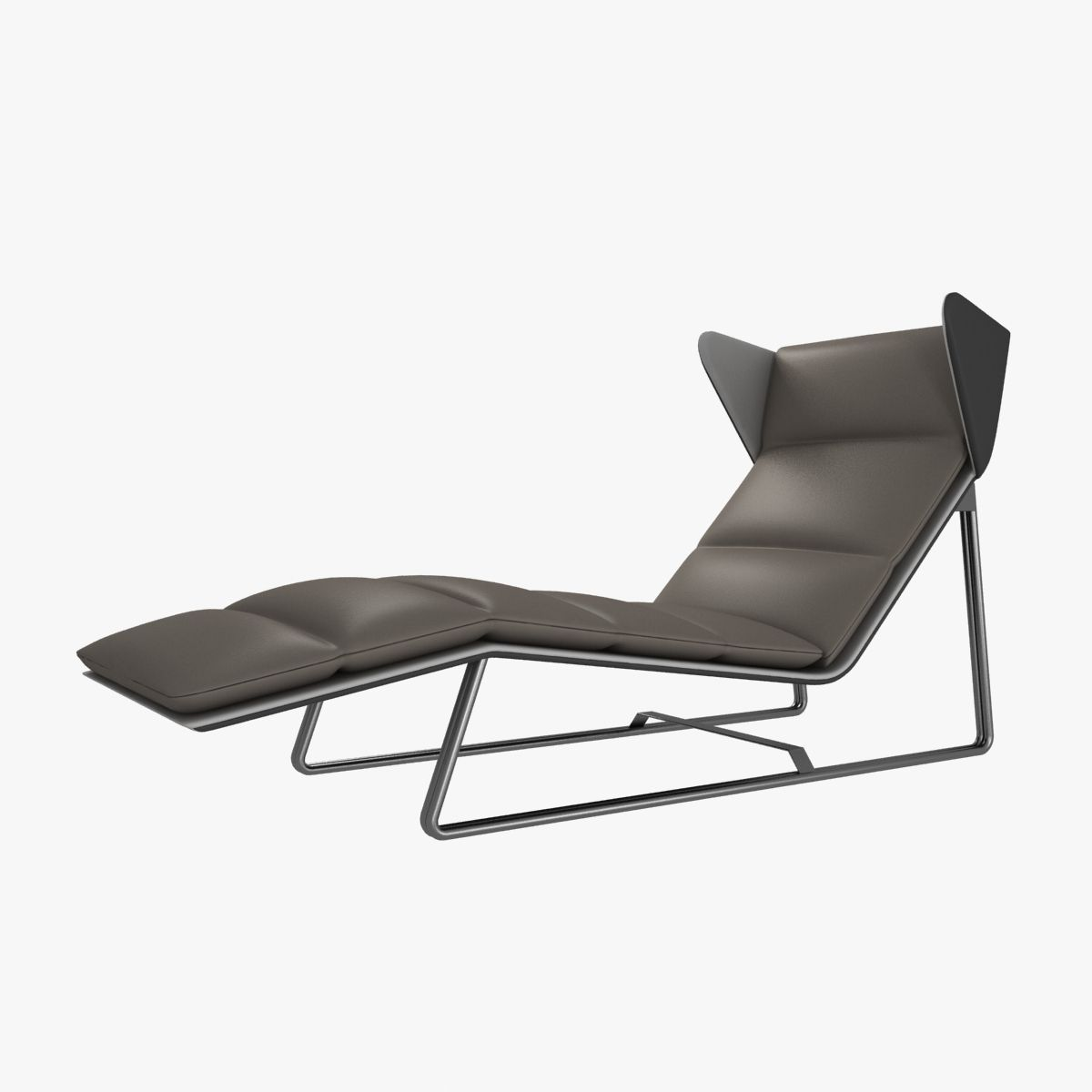 Esedra romea modern chaise lounge 3d model max obj 3ds fbx for Chaise contemporary