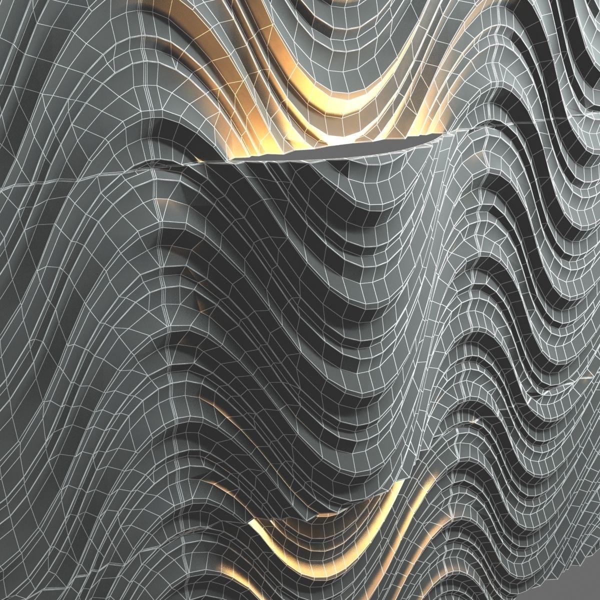 Lithos Design Seta 3d Wall Tiles Model Max Obj 3ds Fbx Mtl Unitypackage 5