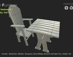 Garden Furniture - gameready 3D model