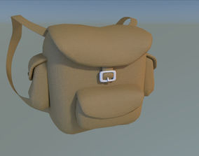 Backpack 3D asset low-poly