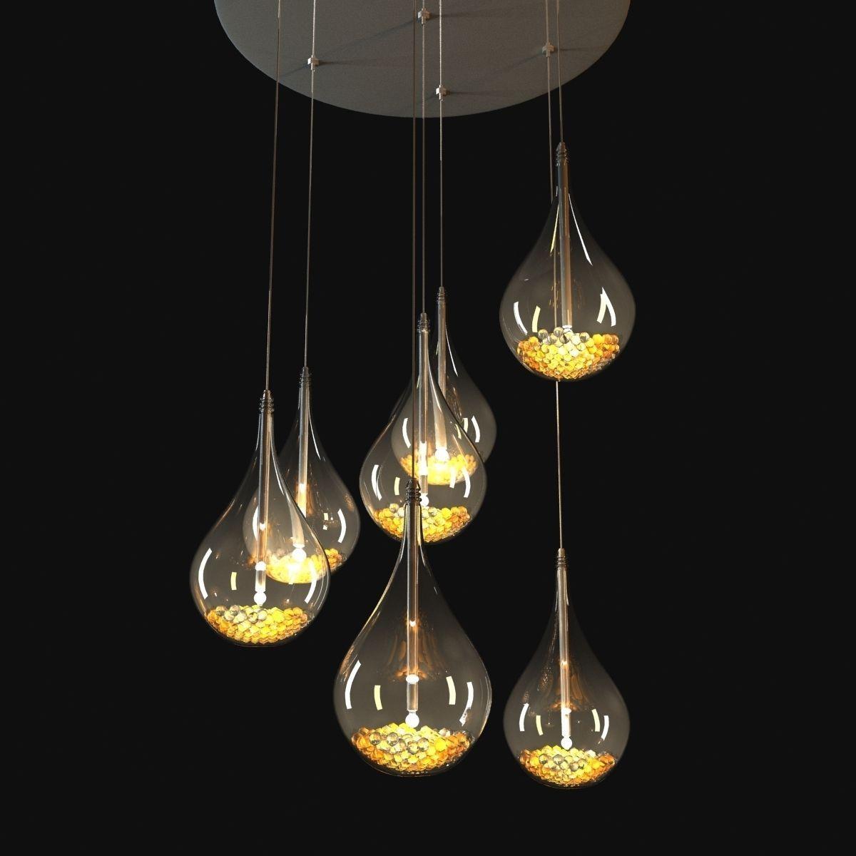 John Lewis Sebastian 7 Light Drop Ceiling ... 3D Model