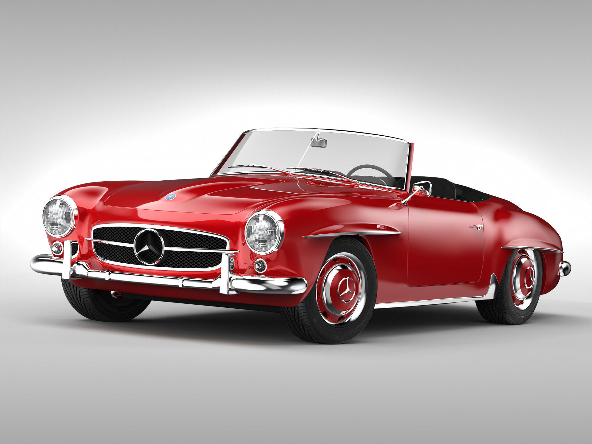 3d Model Mercedes Benz 190 Sl 1955 1963 Cgtrader
