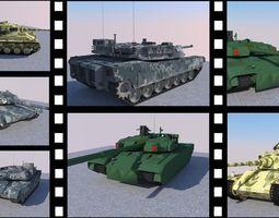 Tank Package 3D asset