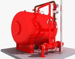 Fire Water Tank 3D Model