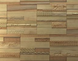 Wanderwall phoenix 3d wall wood tiles 3d model for Porte 3ds max