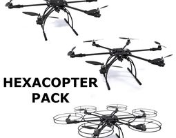 hexacopter pack 3D Model