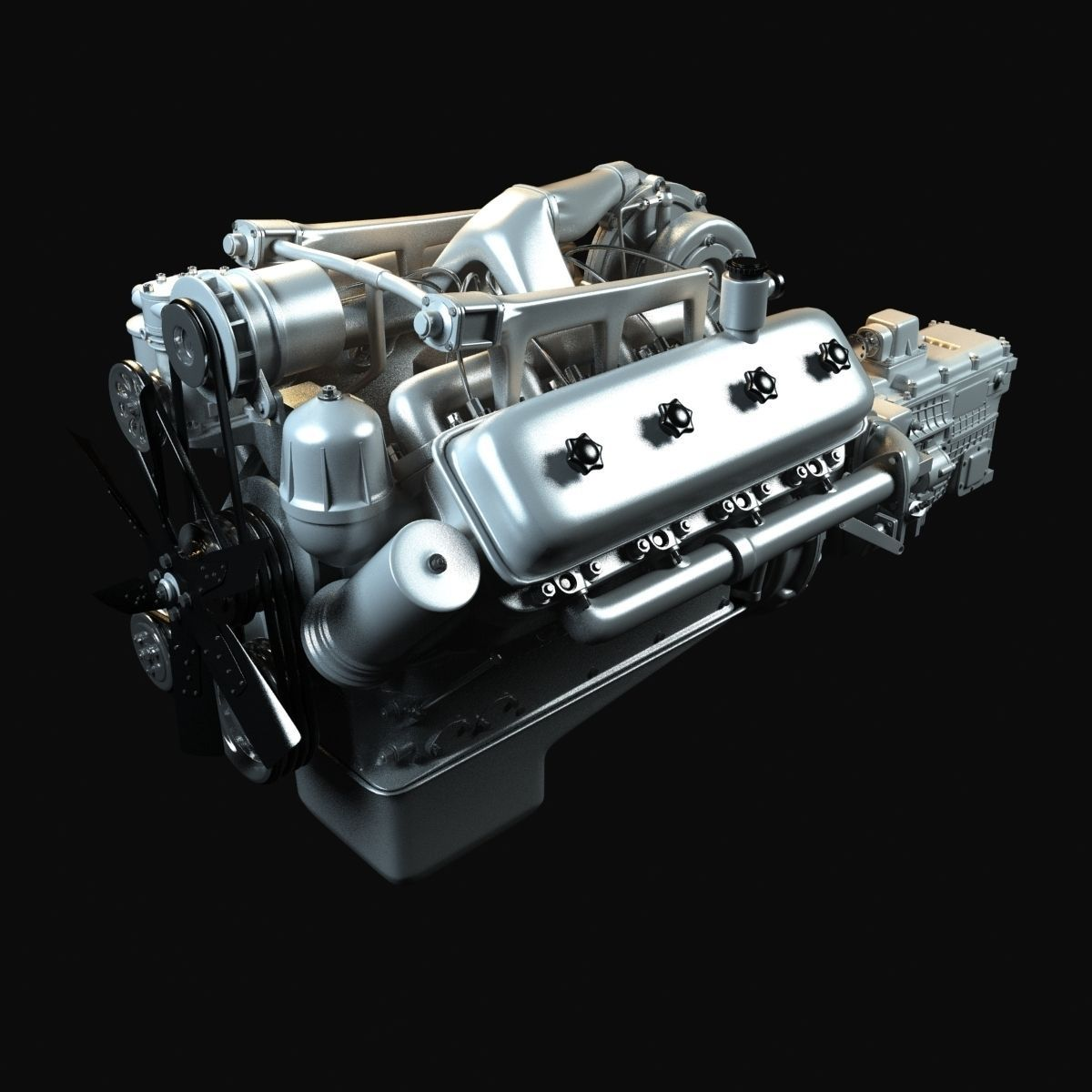 Kraz Engine With Gearbox