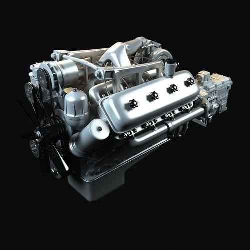 Kraz Engine With Gearbox3D model
