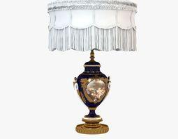 classic antique baroque lamp 3d