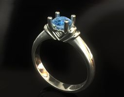 3D printable model heart Solitaire Ring