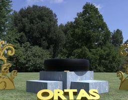 ORTAS TIRE NO 4 GAME READY 3D model