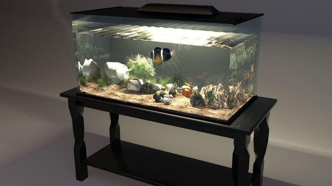 aquarium 3d model max obj mtl 3ds fbx tga 1