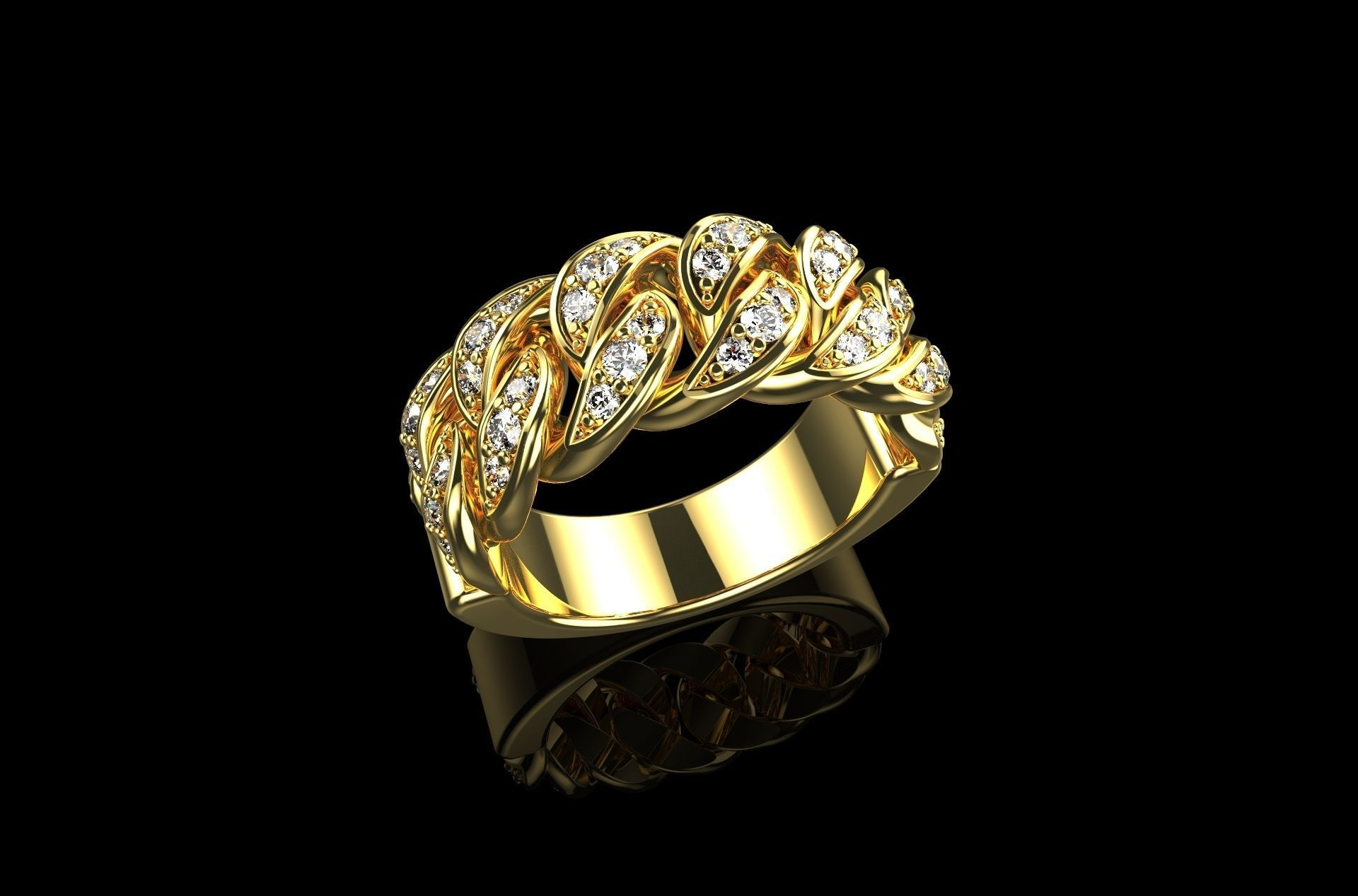 Diamond Cuban Ring N4