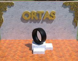ORTAS TIRE NO 25 GAME READY 3D asset