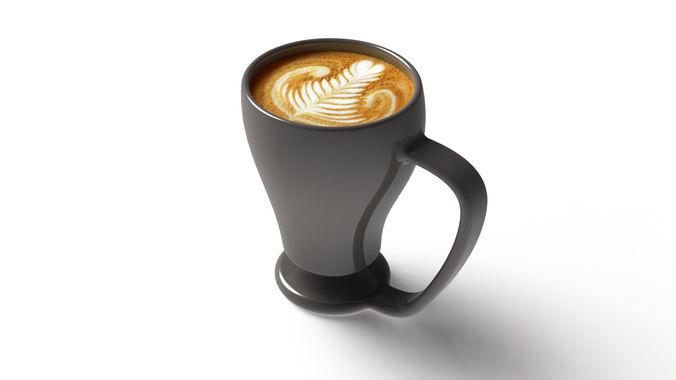 nescafe cup 3d model obj mtl 3ds fbx stl sldprt sldasm slddrw 1