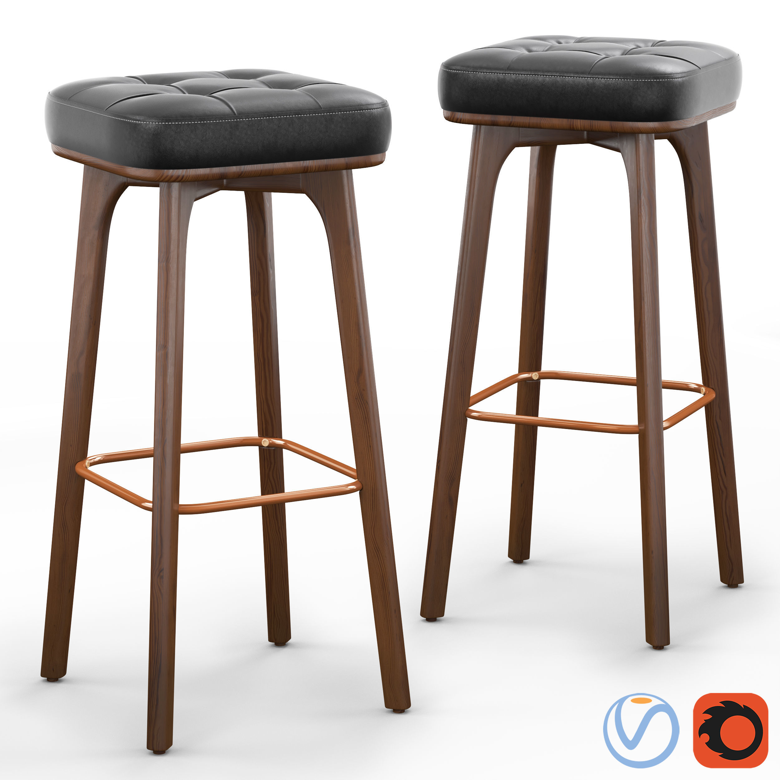 Winchester Solid Wood Bar Stool Model