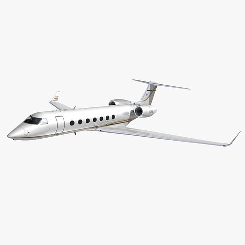 gulfstream 550 metrojet  3d model animated max obj 3ds lwo lw lws hrc xsi dxf 1