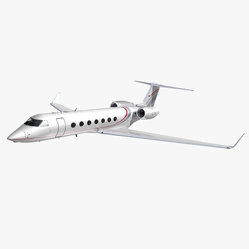 gulfstream 550 private livery 2 3d model animated max obj mtl 3ds lwo lw lws hrc xsi dxf 1