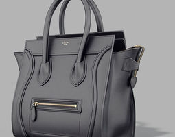 Celine Luggage Bag 3D Model