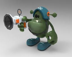 3D model Animated Alien Soldier - Cartoon - Game Ready