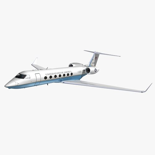 gulfstream 550 us air force 3d model animated max obj mtl 3ds lwo lw lws hrc xsi dxf 1