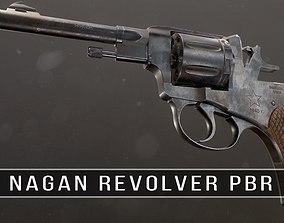 Soviet Russian Revolver Nagant PBR 3D model