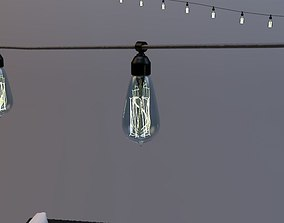 3D model architecture Edison Patio Lights Rope