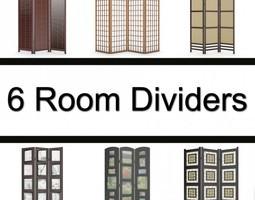 6 Room Dividers 3D Model