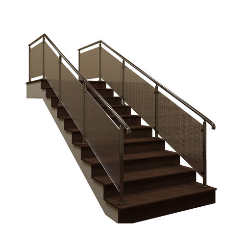 staircase with fence 3d model max obj mtl 3ds fbx dwg 1
