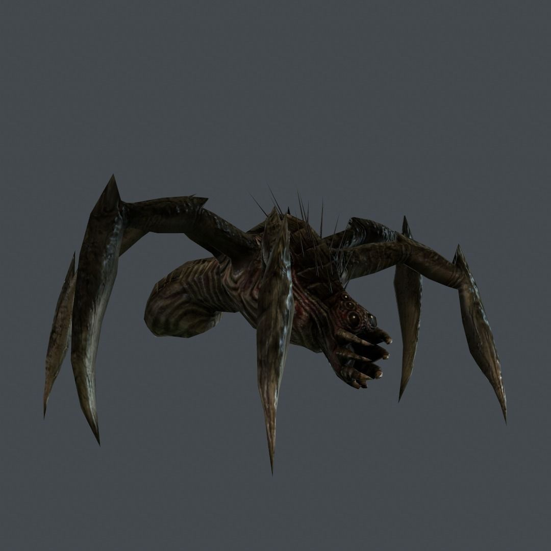 Space Alien Spider 3D Model Game Ready Animated Rigged