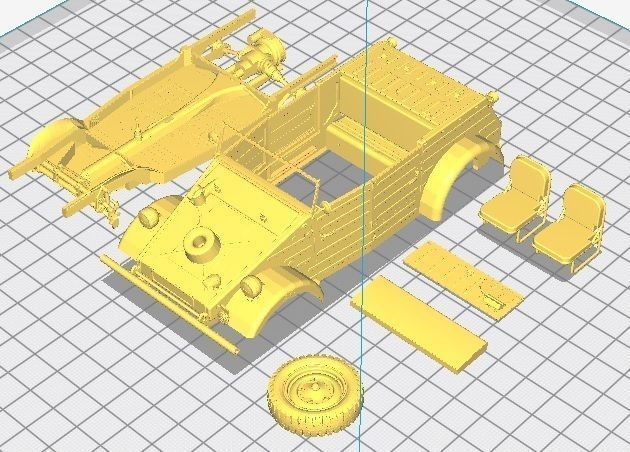 kubelwagen printable car 3d model max stl 1