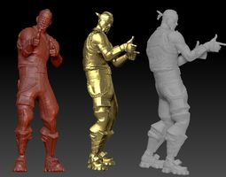 3D print model Fortnite Biker High poly